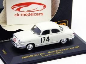 Panhard PL17 #174 Vincitore Rally di Monte Carlo 61 1:43 Ixo