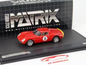 Iso Daytona 6000 GT Prototipo #8 Jahr 1965 rot 1:43 Matrix