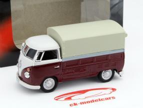 Volkswagen VW T1 Pick Up Con Planes rojo / beige 1:43 Cararama