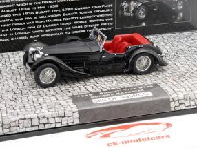 Bugatti Type 57SC Corsica Raodster ano 1938 preto 1:43 Minichamps