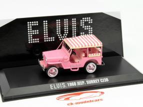 Jeep Surrey CJ3B Elvis Baujahr 1960 pink 1:43 Greenlight