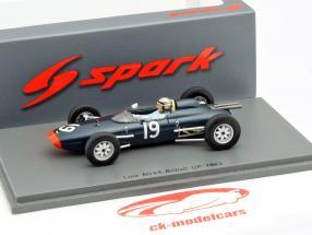 Chris Amon Lola Mk4A #19 Storbritannien GP formel 1 1963 1:43 Spark