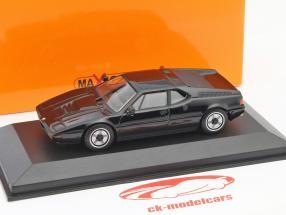 BMW M1 ano 1979 preto 1:43 Minichamps