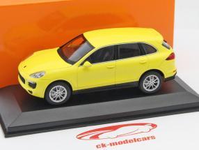 Porsche Cayenne anno 2014 giallo 1:43 Minichamps