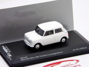 "Morris Mini Minor 1959 blanco ""First Mini to be badged Morris"" 1:43 Ixo"