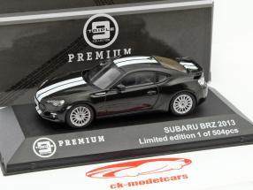 Subaru BRZ Year 2013 black / white 1:43 Triple 9