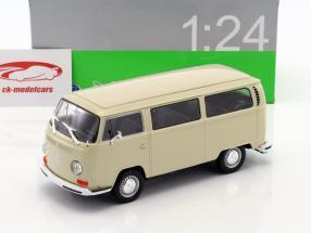 Volkswagen VW T2 Bus année de construction 1972 crème 1:24 Welly