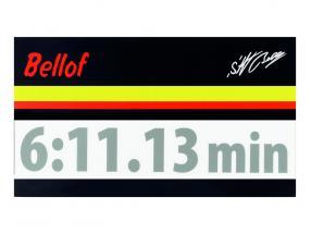 Stefan Bellof sticker giro record 6:11.13 min argento 120 x 25 mm