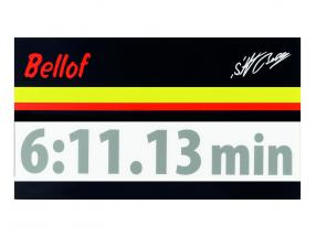 Stefan Bellof sticker record lap 6:11.13 min silver 120 x 25 mm