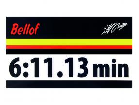 Stefan Bellof sticker giro record 6:11.13 min nero 120 x 25 mm