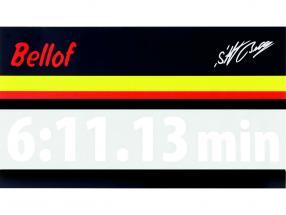 Stefan Bellof sticker giro record 6:11.13 min bianco 200 x 35 mm