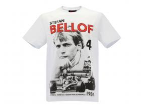 Stefan Bellof Camiseta Podium GP monaco 1984 branco / vermelho / preto