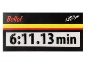 Stefan Bellof 3D Aufkleber Rekordrunde 6:11.13 min schwarz 120 x 25 mm