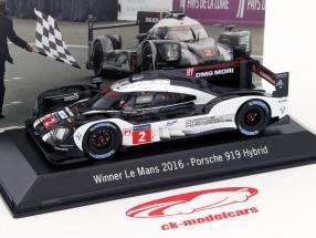 Porsche 919 Hybrid #2 vencedor 24h LeMans 2016 Lieb, Dumas, Jani 1:43 Spark