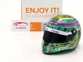 Felipe Massa Williams FW38 GP Brasilien formula 1 2016 Almost final race helmet 1:2 Schuberth