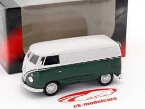 Volkswagen VW T1 van verde escuro / branco 1:43 Cararama