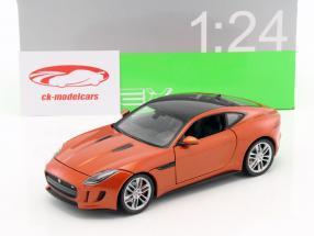 Jaguar F-Type Coupe année de construction 2015 orange 1:24 Welly