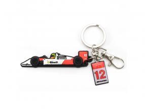 Ayrton Senna Schlüsselanhänger McLaren weiß / rot