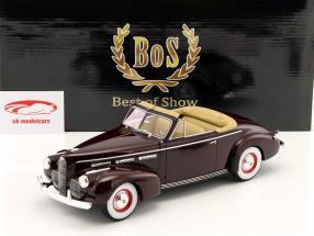 LaSalle Series 50 Convertible Coupe Bouwjaar 1940 purper 1:18 BoS-Models