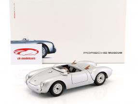 Porsche 550 Spyder année de construction 1956 argent 1:18 Schuco