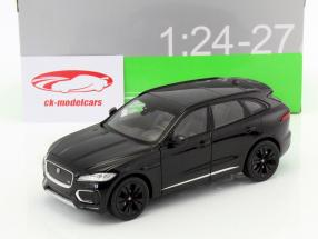 Jaguar F-Pace Bouwjaar 2016 zwart 1:24 Welly