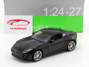 Jaguar F-Type coupe year 2015 black 1:24 Welly