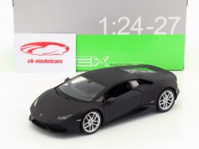 Lamborghini Huracan LP 610-4 jaar 2015 mat zwart 1:24 Welly