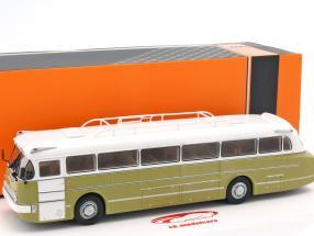 Ikarus 66 bus year 1972 white / bright olive 1:43 Ixo