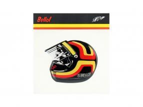 Stefan Bellof etiqueta engomada casco 80 x 65 mm