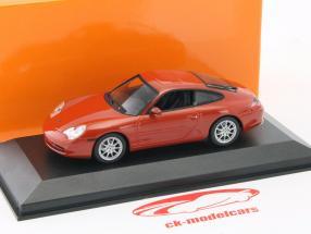 Porsche 911 Carrera coupé année de construction 2001 rouge-orange métallique 1:43 Minichamps