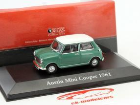 Austin Mini Cooper année de construction 1961 vert / blanc 1:43 Atlas