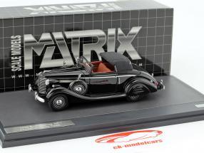 Buick Series 40 Lancefield Drop Head Bouwjaar 1938 zwart 1:43 Matrix