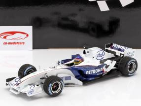 Jacques Villeneuve Sauber BMW C24B #17 février test Valencia formule 1 2006 1:18 Minichamps