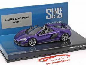 McLaren 675LT Spider Shmee150 orion purple 1:43 Minichamps