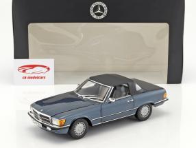Mercedes-Benz 300 SL (R107) Bouwjaar 1985-89 lapis blauw metalen 1:18 Norev