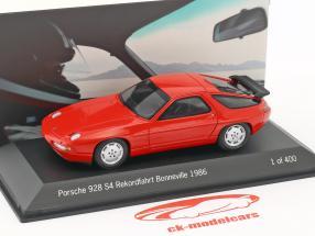 Porsche 928 S4 Rekordfahrt 275 km/h Bonneville 1986 Holbert rot 1:43 Spark