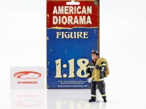 bombeiro figura IV Job Done 1:18 American Diorama
