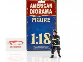 bombero figura III Holding Axe 1:18 americano Diorama