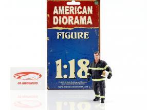 bombero figura I Fire Chief 1:18 American Diorama