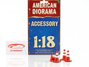Traffic Cones ensemble 1:18 American Diorama
