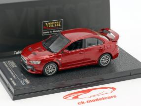 Mitsubishi Lancer Evolution X Bouwjaar 2012 rood metalen 1:43 Vitesse