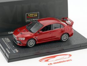 Mitsubishi Lancer Evolution X year 2012 red metallic 1:43 Vitesse
