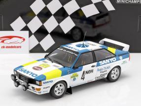 Audi Quattro #4 gagnant International Swedish Rallye 1982 Blomqvist, Cederberg 1:18 Minichamps