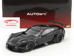 Chevrolet Corvette C7.R Plain Color Version année de construction 2016 brillant noir 1:18 AUTOart