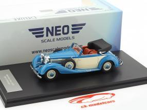 Mercedes-Benz 540K Typ A Cabriolet Baujahr 1936 blau / beige 1:43 Neo