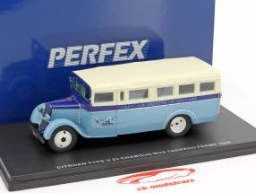 Citroen U23 Chaboud Torpedo bus année de construction 1946 bleu / beige 1:43 Momaco