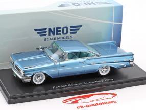 Pontiac Bonneville Hardtop Baujahr 1959 hellblau metallic 1:43 Neo