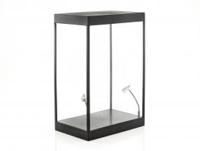 cabinet singolo con 2 mobile lampade a LED per figure nella scala 1:6 Triple9