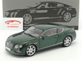 Bentley Continental GT RHD année de construction 2016 vert 1:18 Paragon Models