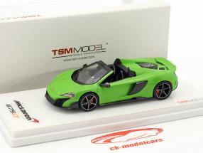 McLaren 675LT Spider anno di costruzione 2016 verde 1:43 TrueScale